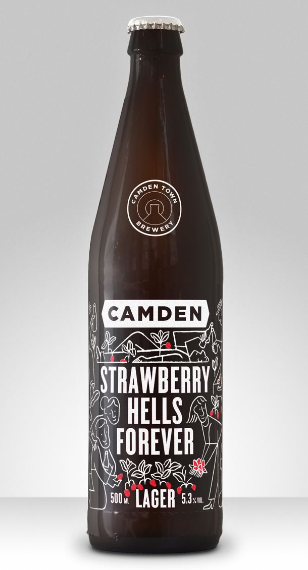 Camden Town Brewery launch summer lager with strawberries http://www.foodbev.com/news/camden-town-brewery-launches-summer-beer-with-strawberries/