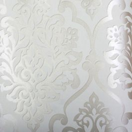 white patterned wallpaper