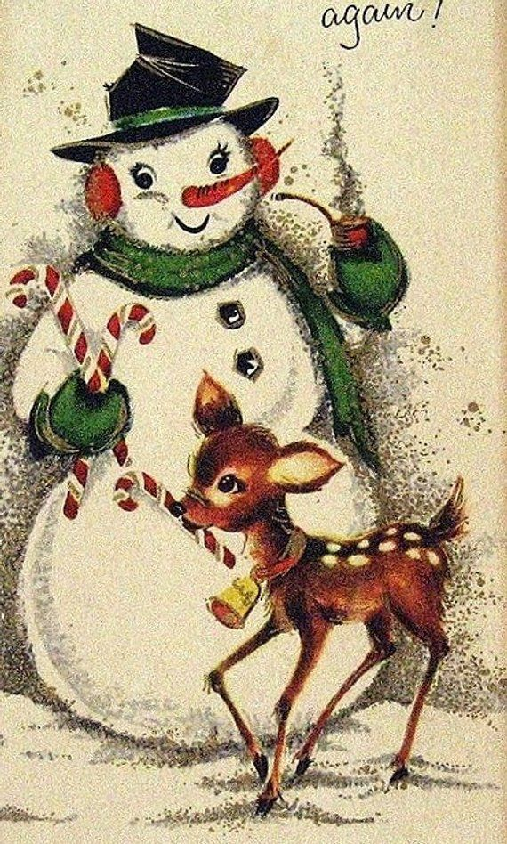 Thanks Mr Frosty Cross Stitch Pattern PDF Vintage