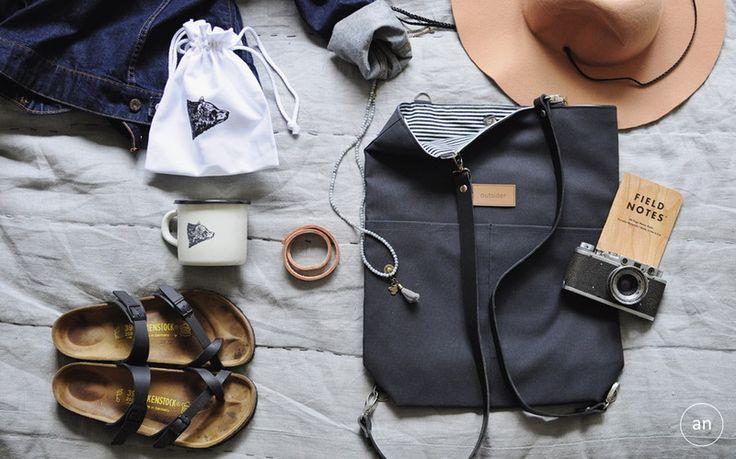 Torba / plecak czarny - anitasienudzi - Torebki śniadaniowe
