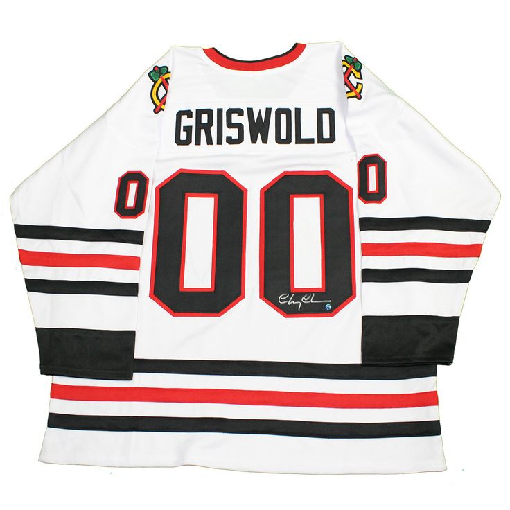 Chevy Chase Signed 'Griswold' Chicago Blackhawks Jersey