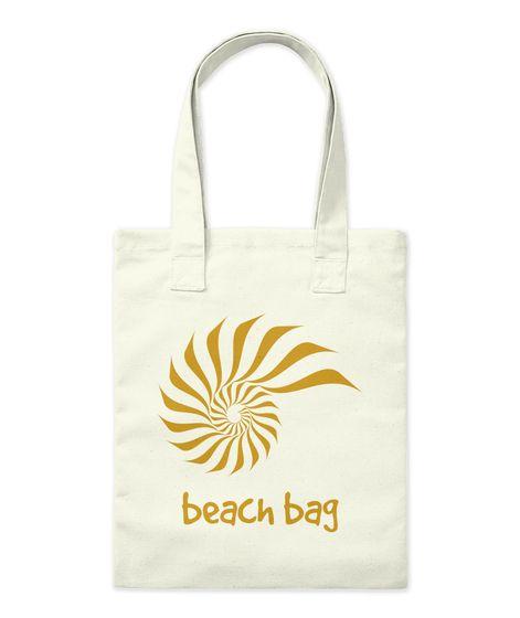 Beach Bag Natural Tote Bag Front