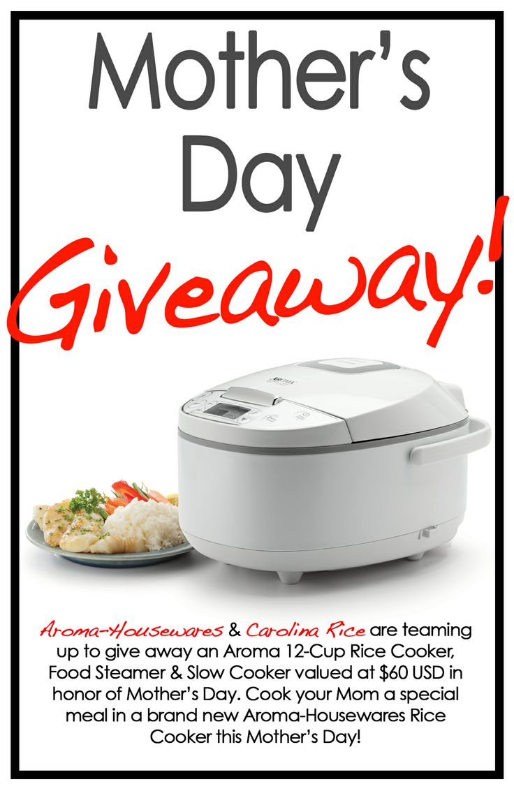 We're teaming up with @Jennifer Hall Housewares for an extra-special #MothersDay contest! Enter to win a brand new Aroma 12-Cup Rice Cooker, Food Steamer & Slow Cooker at http://woobox.com/mfggt2