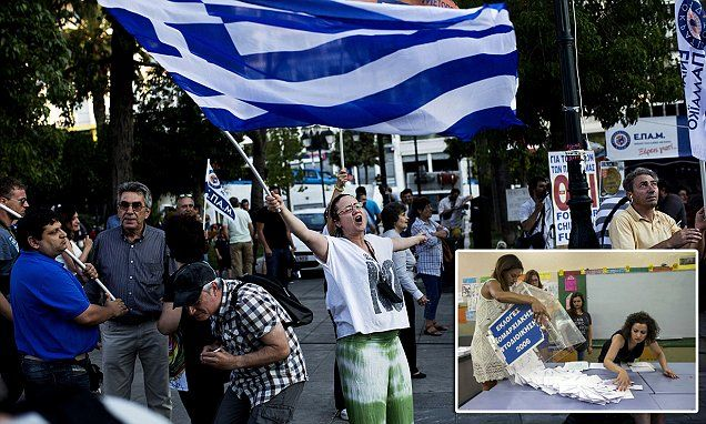 Greece heads for euro exit as 'No' campaign races into referendum lead #DailyMail