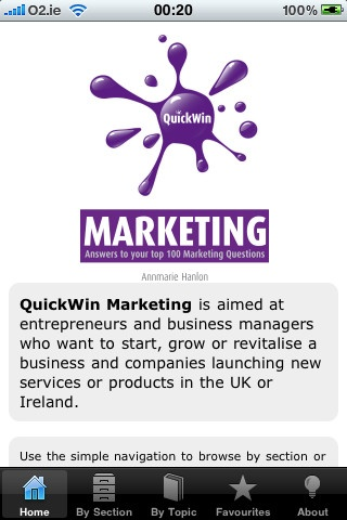 Quick Win Marketing: Answers to your top 100 marketing questions iPhone and iPad app by Oak Tree Press. Genre: Business application. Price: $5.99. http://click.linksynergy.com/fs-bin/stat?id=gtf1QuAg8bk=146261=3=0=1826_PARM1=http%3A%2F%2Fitunes.apple.com%2Fapp%2Fquick-win-marketing-answers%2Fid341690978%3Fuo%3D5%26partnerId%3D30
