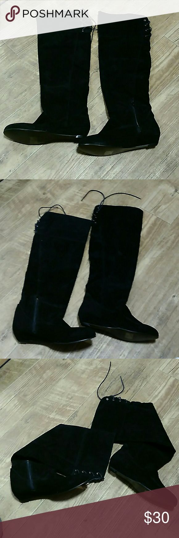 Women Black knee high Boots NEW Other