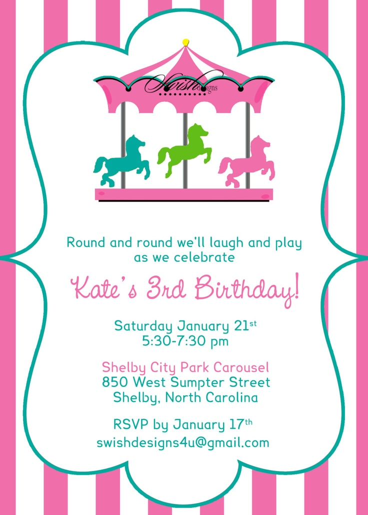 460 best circo images on Pinterest Ideas, Invitations and Drawings - circus party invitation