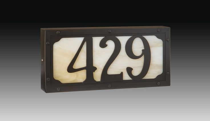 Illuminated House Numbers - Willowglen, Small