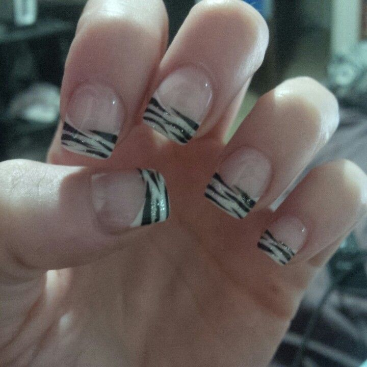Zebra Acrylic Nails 62