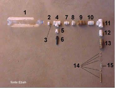 Carneiro hidráulico ou bomba de aríete pecas