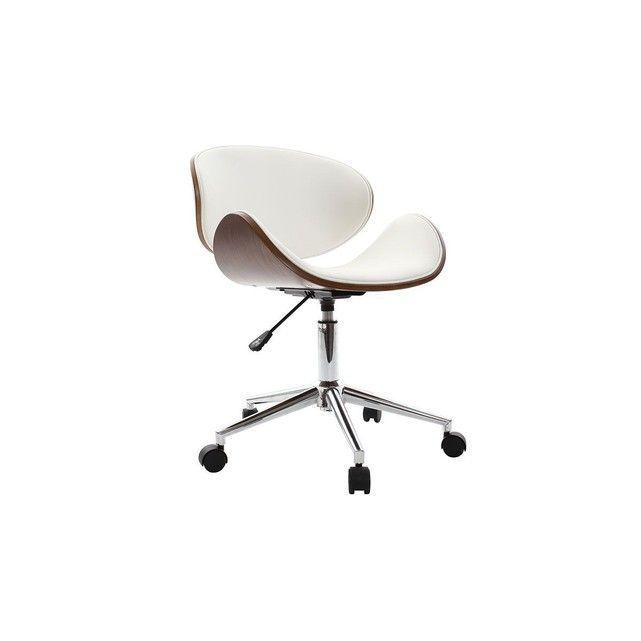 La Chaise De Bureau Design Noir Et Bois Walnut C Est L Association