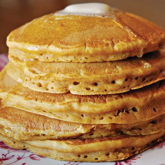 Old-fashioned pancakes are also known as griddlecakes and are country breakfast staple.