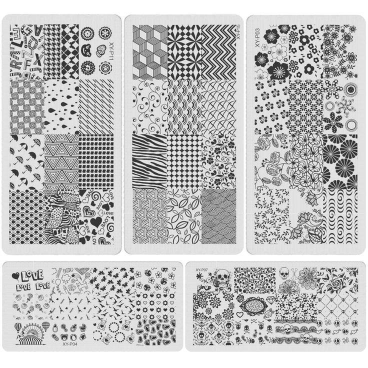 新しい到着ネイルアート金属プレート画像スタンピングプレートdiyマニキュア印刷テンプレートプレートツール美しい植物xypスタイル