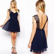 Buy OEM 2015 Fashion Blue Chiffon Women Dress for LadiesWomen's Clothing on bdtdc.com