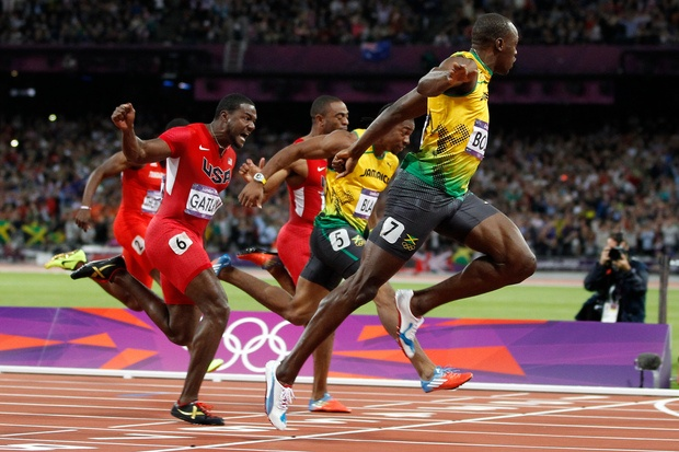 Usain Bolt, Olympic Games 100m final.