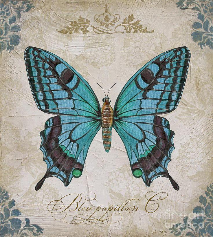 Bleu Papillon-c Painting