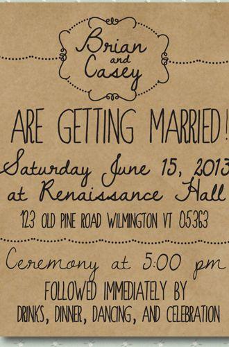 8 Unique Handmade Wedding Invitations from Etsy: Lauren M.                                                                                                                                                      More