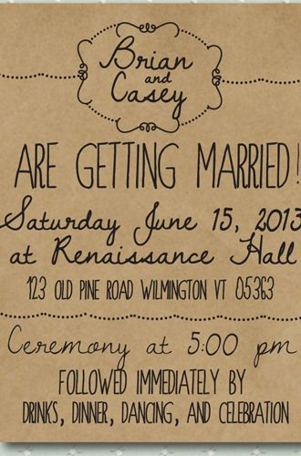 8 Unique Handmade Wedding Invitations from Etsy: Lauren M.