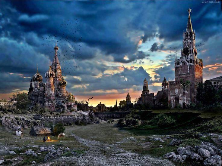 Moskwa, Cerkiew, Chmury