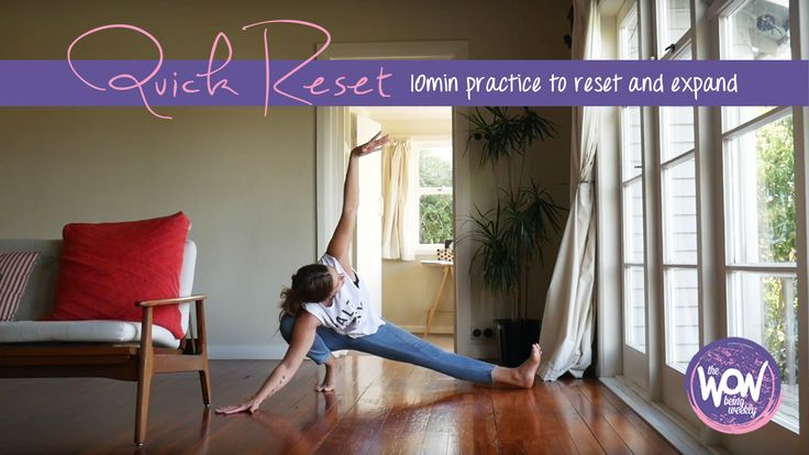 week 31: Quick reset - A brief 10min practice to flip and reset if your day is going down the gurgler. You'll see I'm practicing in jeans on my hardwood floors - you don't need anything fancy for this, just you.