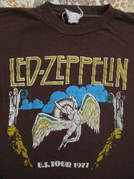 LED ZEPPELIN 1977 tour T SHIRT by rainbowgasoline on Etsy
