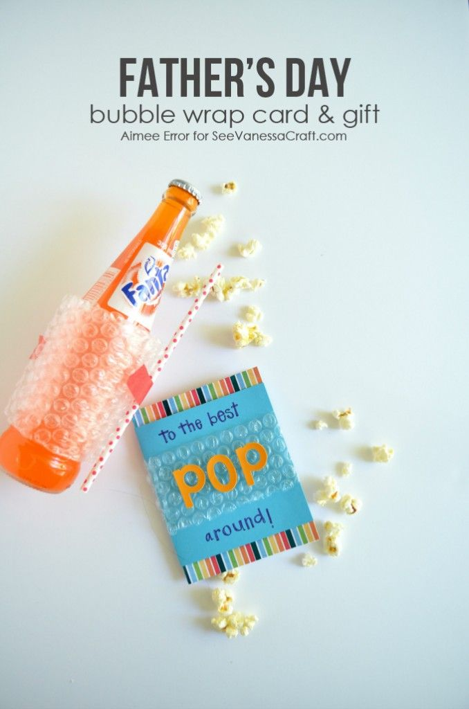 craft: father's day bubble wrap card & gift