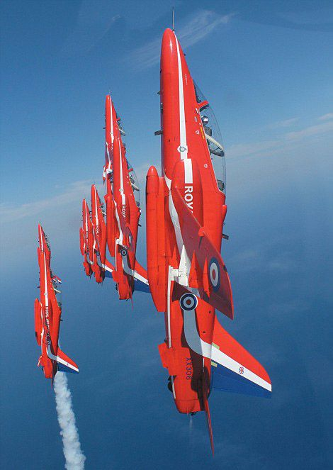 A great pic of the Red Arrows