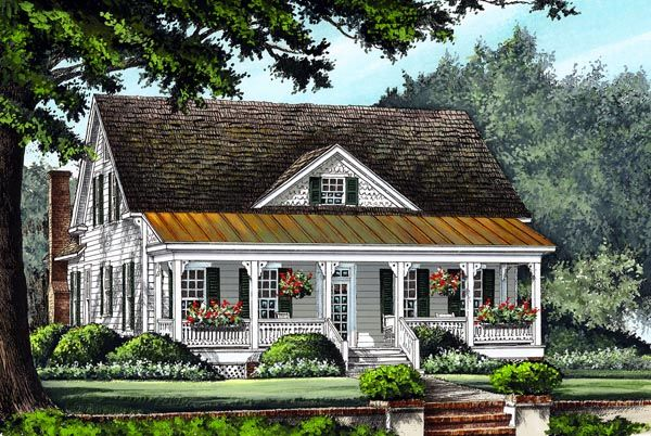 Farmhouse Traditional House Plan 86299