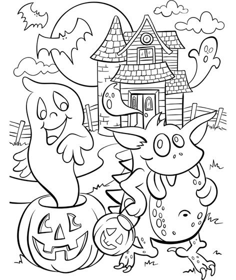 Haunted House-www.crayola.com | Coloring Pages | Pinterest | Haunted ...