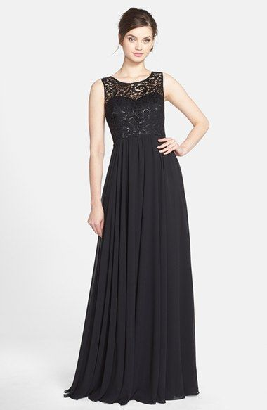 Jenny Yoo 'Gwenyth' Metallic Lace & Chiffon Gown available at #Nordstrom