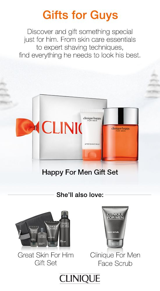 The guy on your #holiday list will love #Clinique Happy For Him Gift Set. Experience soothing After Shave Balm and refreshing Cologne Spray at an incredible value. #Fragrance #Gift