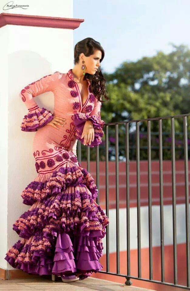 98 best Trajes de gitana images on Pinterest | Flamenco dresses ...