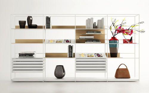 Libreria moderna / in legno / in metallo / in vetro DEEP by Christophe Pillet Enne