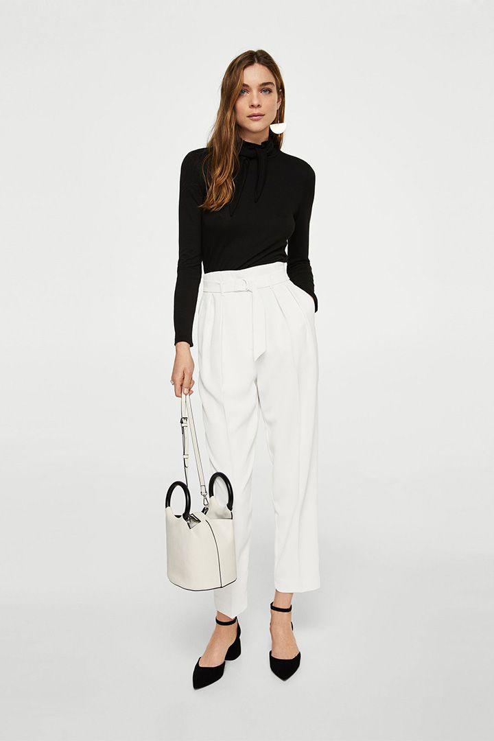 Paper Pantalones Alza 2019 2018 Bag En Tendencia Una dgwqgC