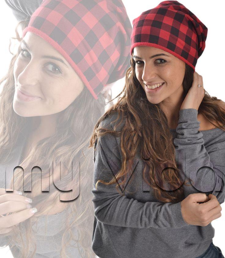 #Cappelletto #donna fantasia quadri lungo..il cappello l'#accessorio perfetto per ogni stagione e per la #tendenza del momento presentiamo questo #berretto #stile tartan #scozzese