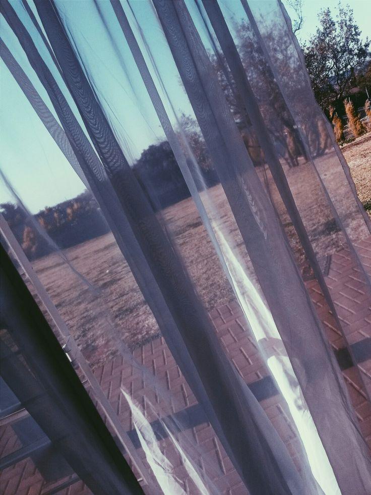#Curtain #Veil #Outside