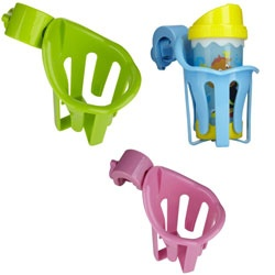 Munchkin clip on stroller cup holder - One in each color please! for attaching to shopping cart when the kids and I are out and about.