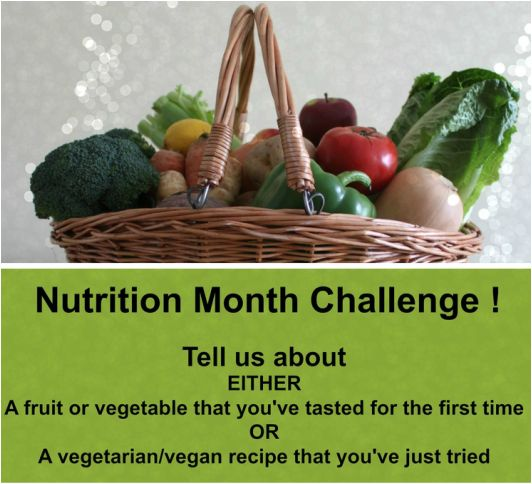 Canadian Nutrition Month Challenge (March 2015)