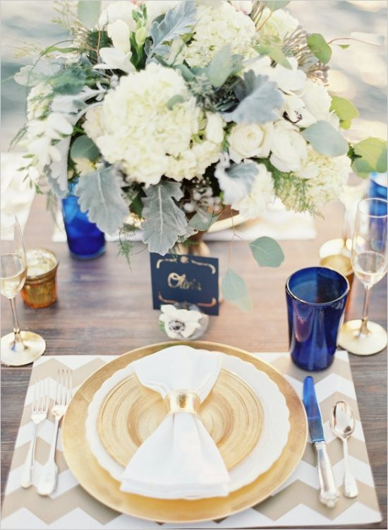 gold and navy wedding ideas