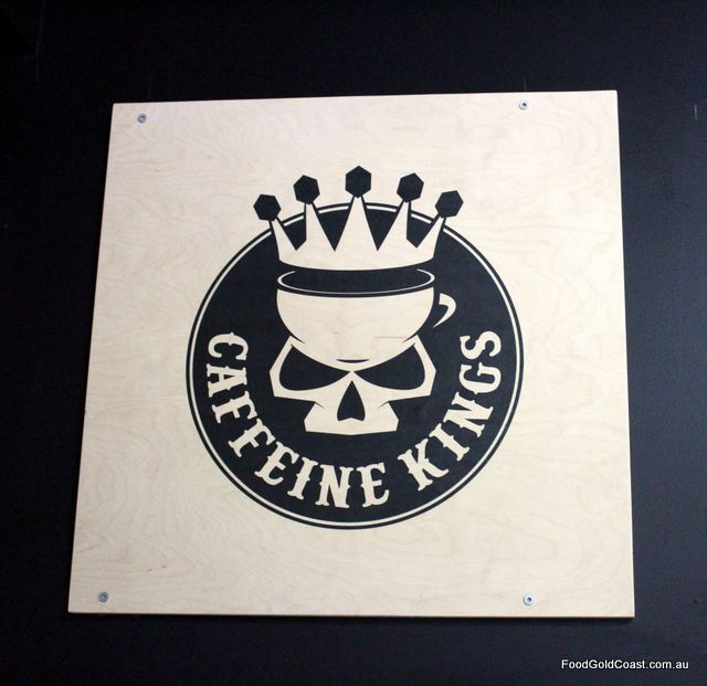 Coffee and food with great attitude at Caffeine Kings, Miami. Review at http://www.foodgoldcoast.com.au/caffeine-kings/