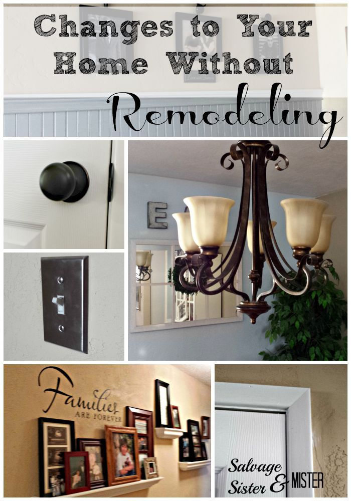 If you are frustrated with a lack of money to remodel, here are 7 small changes that can make a big difference in a home.  www.salvagesisterandmister.com