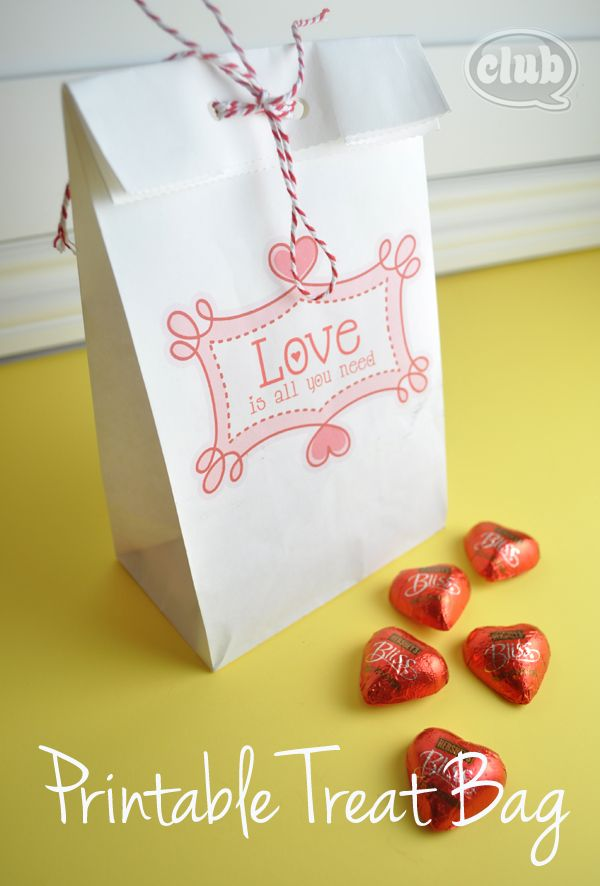 printable paper bag with instructions for printing at home