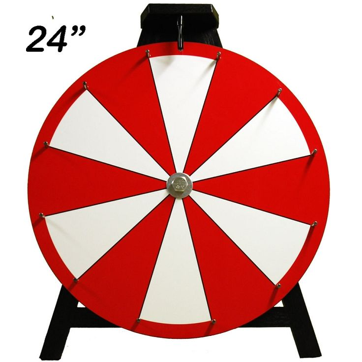 Dry Erase Prize Wheel - Spin the wheel for raffling baskets. Easily update & add new ones.
