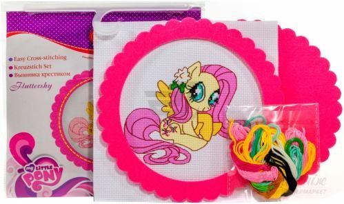 Набор для вышивания крестиком D&M Делай с мамой Флаттершай My Little Pony 57928 - фото 2