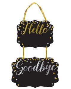 Say Hello to the New Year and Goodbye to the Old ./Wally's Party Factory #Hello #Goodbye #Chalkboard #Sign