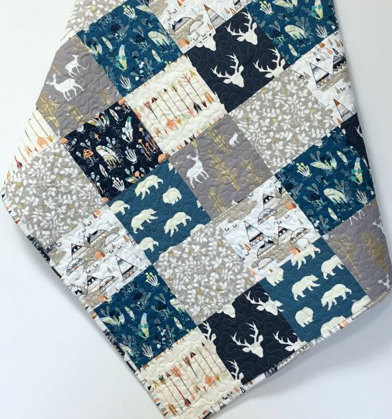 28 best Woodland Baby Quilts for Sale images on Pinterest ... : baby boy quilts for sale - Adamdwight.com