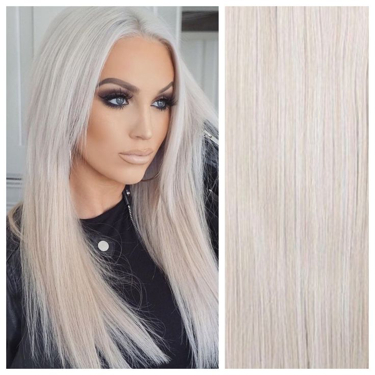 Icy Blonde Clip In Hair Extensions 26″ Double Weft 200g Remy Human Hair Weave Co…