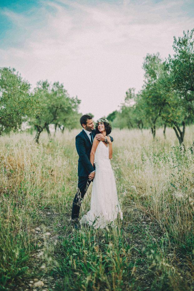 Un mariage en vert et blanc dans l'Hérault