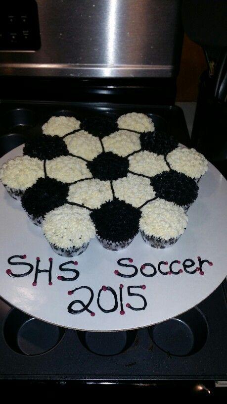 Soccer Cupcake Cake                                                                                                                                                     More