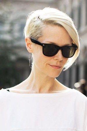 cortes de pelo corto asimtricos guapos para la mujer de moda
